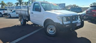 2011 Nissan Navara D40 MY11 RX White 6 Speed Manual Cab Chassis.