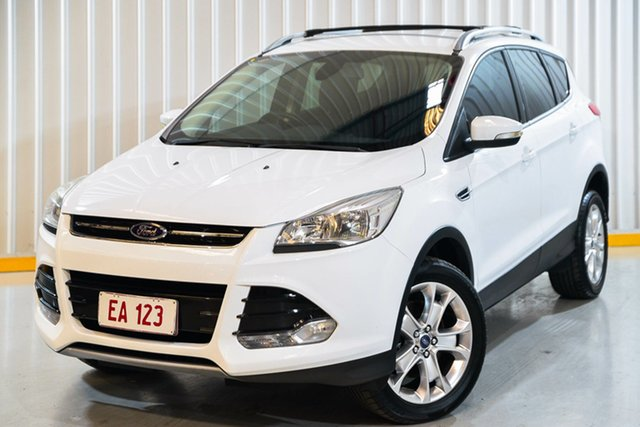Used Ford Kuga TF MY15 Trend AWD Hendra, 2015 Ford Kuga TF MY15 Trend AWD White 6 Speed Sports Automatic Wagon