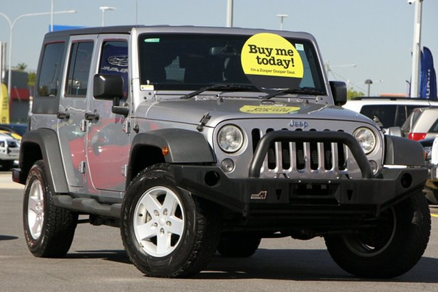 Used Jeep Wrangler JK MY2013 Unlimited Sport Aspley, 2013 Jeep Wrangler JK MY2013 Unlimited Sport Grey 5 Speed Automatic Softtop