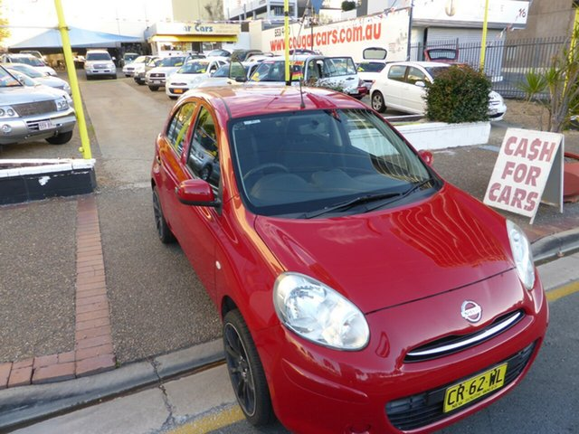 Used Nissan Micra K13 ST-L Southport, 2012 Nissan Micra K13 ST-L Red 5 Speed Manual Hatchback