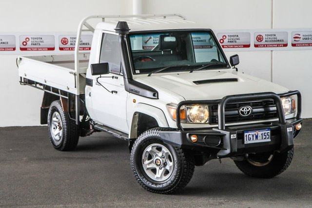 Pre-Owned Toyota Landcruiser VDJ79R MY12 Update GX (4x4) Myaree, 2013 Toyota Landcruiser VDJ79R MY12 Update GX (4x4) French Vanilla 5 Speed Manual Cab Chassis