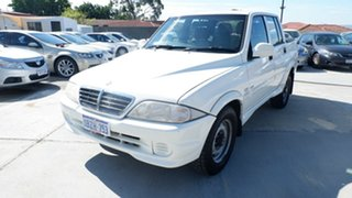 2005 Ssangyong Musso Sports 4x2 White 5 Speed Manual Utility.