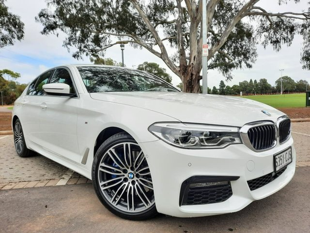 Used BMW 5 Series G30 530i Steptronic M Sport Adelaide, 2019 BMW 5 Series G30 530i Steptronic M Sport White 8 Speed Sports Automatic Sedan