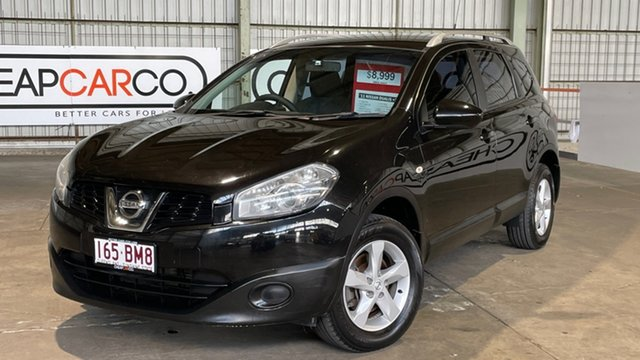 Used Nissan Dualis J10 Series II MY2010 +2 Hatch X-tronic ST Rocklea, 2011 Nissan Dualis J10 Series II MY2010 +2 Hatch X-tronic ST Black 6 Speed Constant Variable
