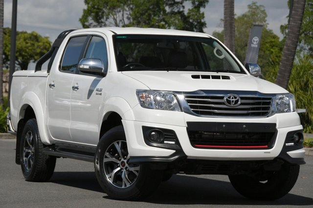Used Toyota Hilux KUN26R MY14 Black Double Cab Limited Edition North Lakes, 2014 Toyota Hilux KUN26R MY14 Black Double Cab Limited Edition White 5 Speed Manual Utility
