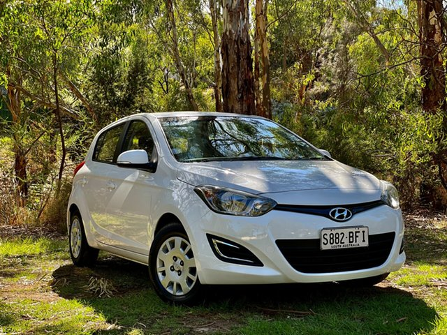 Used Hyundai i20 PB MY15 Active Reynella, 2014 Hyundai i20 PB MY15 Active Polar White 4 Speed Automatic Hatchback