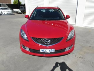 2008 Mazda 6 GH1051 Classic Red 5 Speed Sports Automatic Wagon.