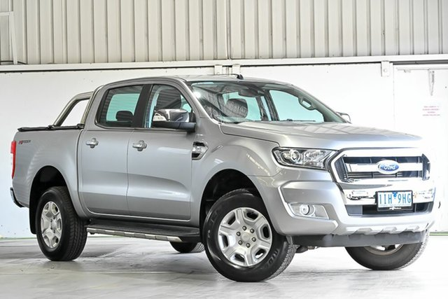 Used Ford Ranger PX MkII XLT Double Cab 4x2 Hi-Rider Laverton North, 2016 Ford Ranger PX MkII XLT Double Cab 4x2 Hi-Rider Aluminium 6 Speed Sports Automatic Utility