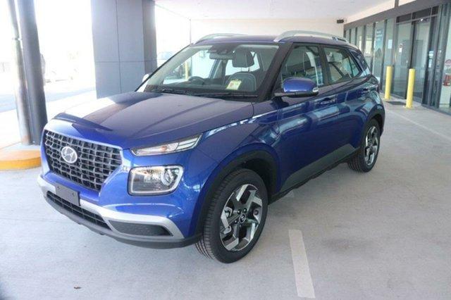 New Hyundai Venue QX.V3 MY21 Active Augustine Heights, 2021 Hyundai Venue QX.V3 MY21 Active Intense Blue 6 Speed Automatic Wagon