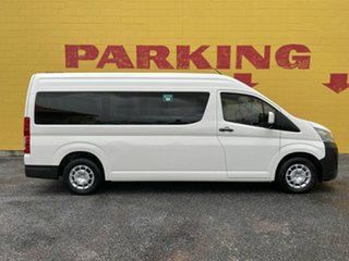 2020 Toyota HiAce GDH322R Commuter High Roof Super LWB GL White 6 Speed Sports Automatic Bus