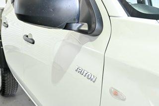 2018 Mitsubishi Triton MQ MY18 GLX White 5 Speed Sports Automatic Cab Chassis.