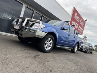 2012 Nissan Navara D40 S6 MY12 ST Blue 6 Speed Manual Utility.