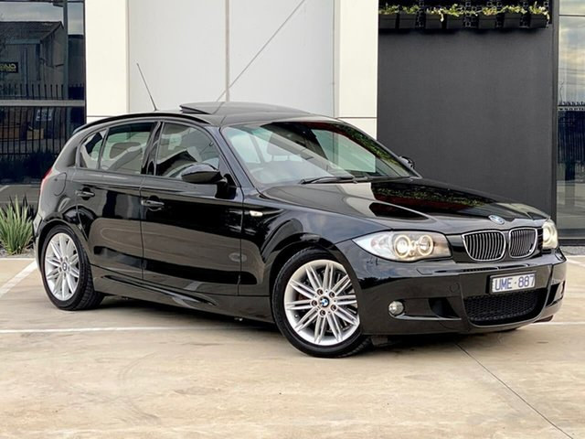 Used BMW 1 Series E87 130i Sport Templestowe, 2006 BMW 1 Series E87 130i Sport Black 6 Speed Automatic Hatchback