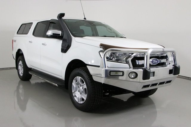 Used Ford Ranger PX MkII XLT 3.2 (4x4) Bentley, 2015 Ford Ranger PX MkII XLT 3.2 (4x4) White 6 Speed Manual Double Cab Pick Up