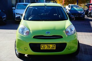 2011 Nissan Micra K13 ST Green 5 Speed Manual Hatchback.