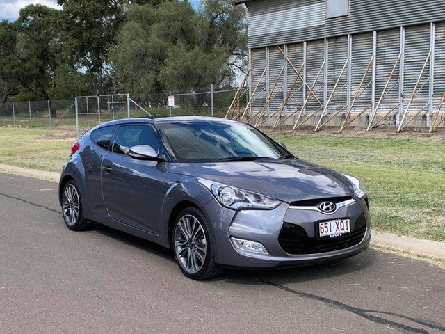 Pre-Owned Hyundai Veloster FS4 Series 2 Oakey, 2016 Hyundai Veloster FS4 Series 2 Grey 6 Speed Auto Dual Clutch Coupe