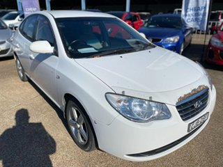 2007 Hyundai Elantra HD SLX White 4 Speed Automatic Sedan.