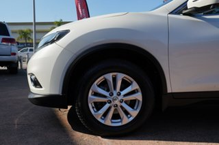 2014 Nissan X-Trail T32 ST-L (4x4) White Continuous Variable Wagon.