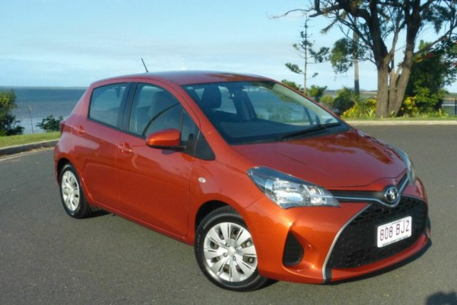 Used Toyota Yaris NCP130R Ascent Gladstone, 2015 Toyota Yaris NCP130R Ascent Orange 5 Speed Manual Hatchback