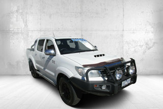 2013 Toyota Hilux GGN25R MY12 SR5 Double Cab White 5 Speed Manual Utility.