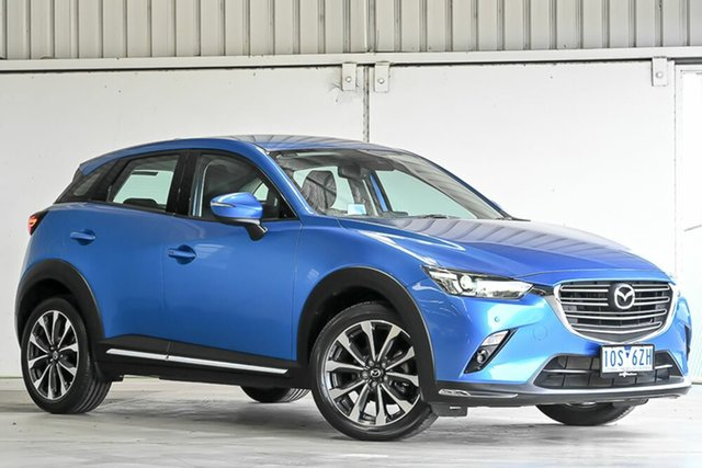 Used Mazda CX-3 DK2W7A sTouring SKYACTIV-Drive Laverton North, 2018 Mazda CX-3 DK2W7A sTouring SKYACTIV-Drive Blue 6 Speed Automatic Wagon