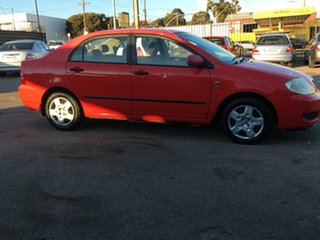2004 Toyota Corolla ZZE122R Ascent Red 4 Speed Automatic Sedan.