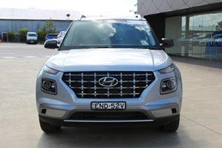 2020 Hyundai Venue QX.V3 MY21 Elite Typhoon Silver 6 Speed Automatic Wagon.