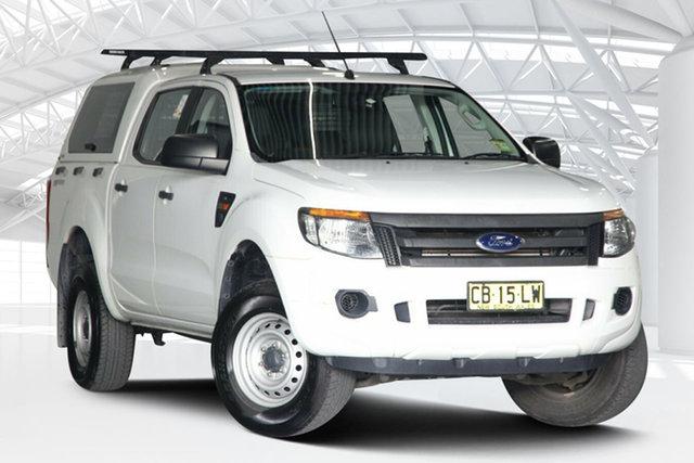 Used Ford Ranger PX XL 2.2 Hi-Rider (4x2) Moorebank, 2014 Ford Ranger PX XL 2.2 Hi-Rider (4x2) White 6 Speed Automatic Crew Cab Pickup