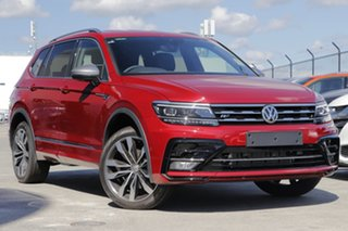 2020 Volkswagen Tiguan 5N MY21 162TSI Highline DSG 4MOTION Allspace Ruby Red 7 Speed.