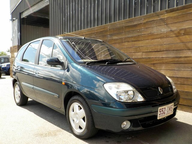 Used Renault Scenic J64 MY03 Expression Labrador, 2004 Renault Scenic J64 MY03 Expression Green 4 Speed Automatic Hatchback