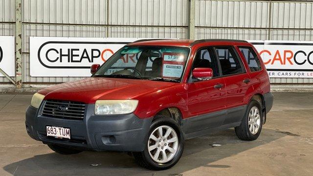 Used Subaru Forester 79V MY07 X AWD Rocklea, 2007 Subaru Forester 79V MY07 X AWD Red 4 Speed Automatic Wagon