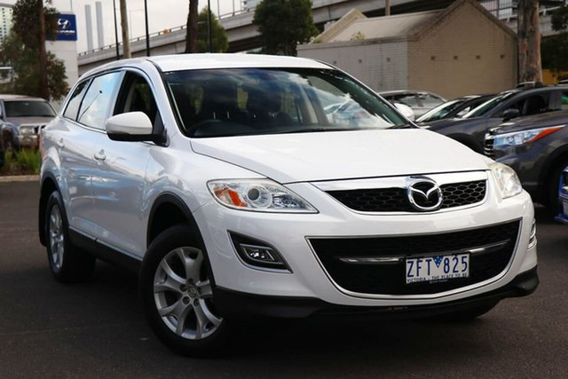 Used Mazda CX-9 TB10A4 MY12 Classic South Melbourne, 2012 Mazda CX-9 TB10A4 MY12 Classic Crystal White Pearl 6 Speed Sports Automatic Wagon