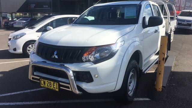 Used Mitsubishi Triton MQ MY16 GLX Double Cab 4x2 Cardiff, 2016 Mitsubishi Triton MQ MY16 GLX Double Cab 4x2 White 6 Speed Manual Utility