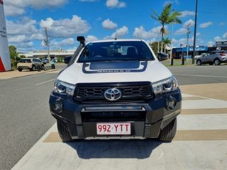 2018 Toyota Hilux GUN126R Rugged X Double Cab Glacier White 6 Speed Sports Automatic Utility