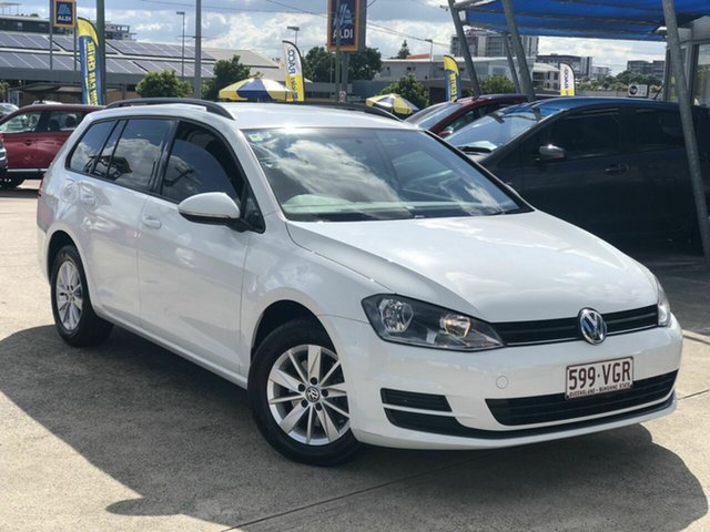 Used Volkswagen Golf VII MY14 90TSI DSG Chermside, 2013 Volkswagen Golf VII MY14 90TSI DSG White 7 Speed Sports Automatic Dual Clutch Wagon