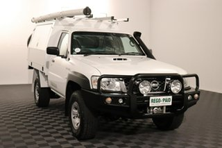 2016 Nissan Patrol Y61 Series 5 MY15 DX White 5 speed Manual Cab Chassis.