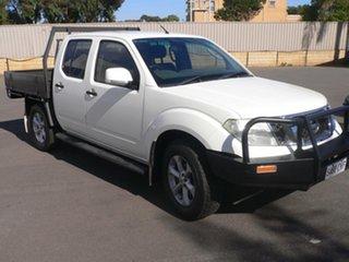 2012 Nissan Navara D40 S7 MY12 RX White 6 Speed Manual Utility.