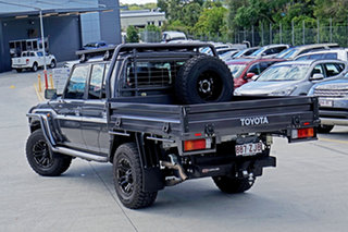 2019 Toyota Landcruiser VDJ79R GXL Double Cab Magnetic Grey 5 Speed Manual Cab Chassis.