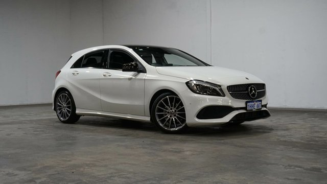 Used Mercedes-Benz A-Class W176 808MY A200 DCT Welshpool, 2017 Mercedes-Benz A-Class W176 808MY A200 DCT White 7 Speed Sports Automatic Dual Clutch Hatchback