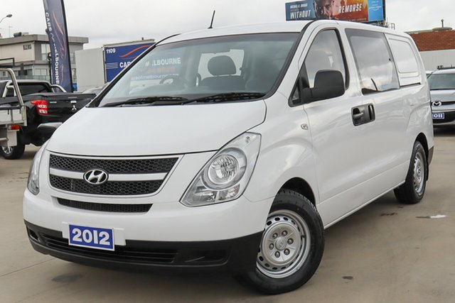 Used Hyundai iLOAD TQ2-V MY12 Crew Cab Coburg North, 2012 Hyundai iLOAD TQ2-V MY12 Crew Cab White 6 Speed Manual Van