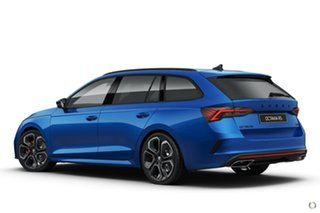 2021 Skoda Octavia NX MY21 RS DSG Blue 7 Speed Sports Automatic Dual Clutch Wagon.
