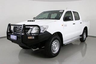 2014 Toyota Hilux KUN26R MY14 SR (4x4) White 5 Speed Manual Dual Cab Pick-up.