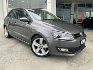 2011 Volkswagen Polo 6R MY11 77TSI DSG Comfortline Grey 7 Speed Sports Automatic Dual Clutch.