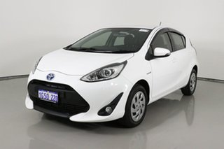 2019 Toyota Prius c NHP10R MY17 Hybrid White Continuous Variable Hatchback.