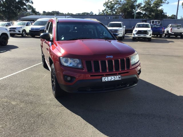 Used Jeep Compass MK MY13 Limited CVT Auto Stick Cardiff, 2012 Jeep Compass MK MY13 Limited CVT Auto Stick Red 6 Speed Constant Variable Wagon