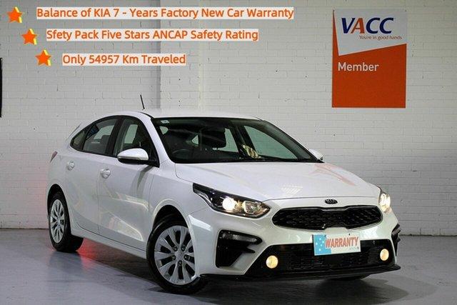 Used Kia Cerato BD MY19 S Moorabbin, 2019 Kia Cerato BD MY19 S White 6 Speed Sports Automatic Hatchback