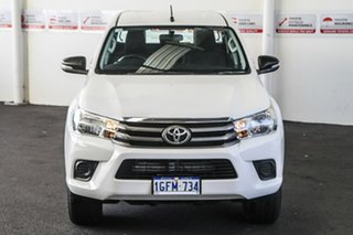 2016 Toyota Hilux GUN136R SR Hi-Rider Glacier White 6 Speed Automatic Dual Cab Utility
