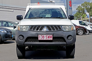 2008 Mitsubishi Triton ML MY09 GL 4x2 White 5 Speed Manual Cab Chassis.