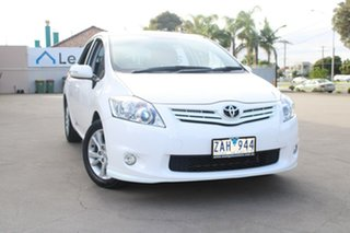 2012 Toyota Corolla ZRE152R MY11 Ascent Sport White 6 Speed Manual Hatchback.