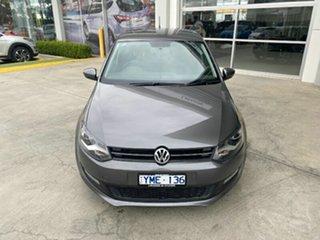 2011 Volkswagen Polo 6R MY11 77TSI DSG Comfortline Grey 7 Speed Sports Automatic Dual Clutch